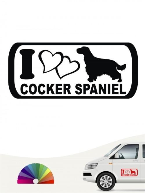 I Love Cocker Spaniel Autosticker anfalas.de