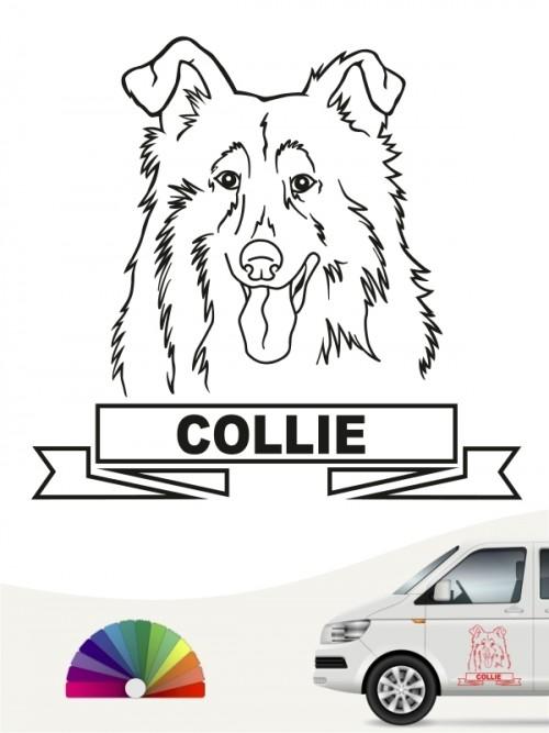 Hunde-Autoaufkleber Collie 16 von Anfalas.de