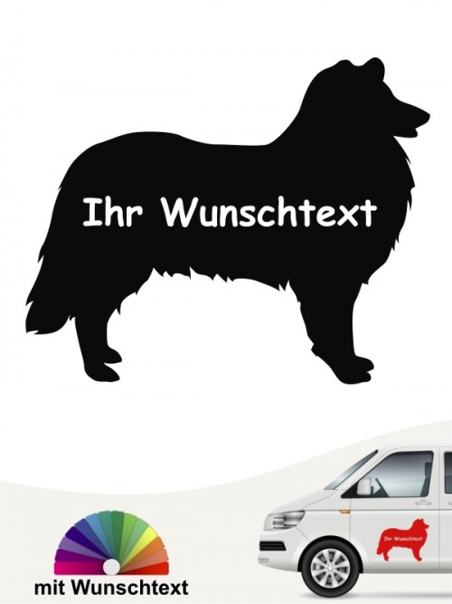 Collie Silhouette mit Wunschtext anfalas.de