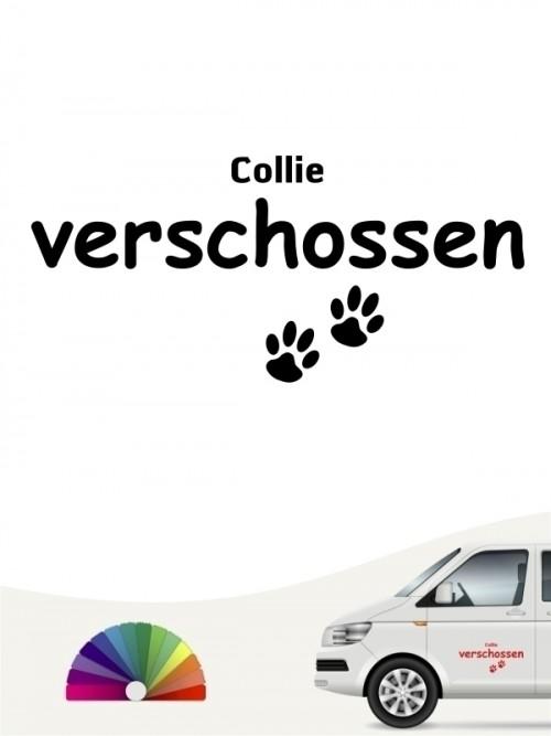 Hunde-Autoaufkleber Collie verschossen von Anfalas.de