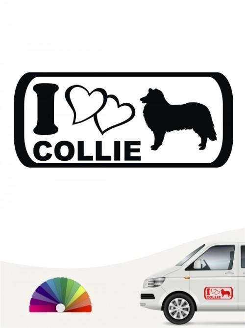 I Love Collie Hundeaufkleber anfalas.de