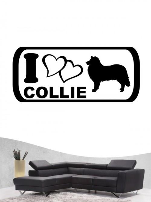 Collie 6 Wandtattoo