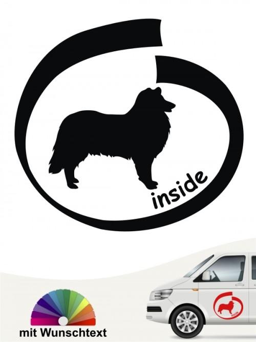 Inside Collie Autoaufkleber mit Wunschname anfalas.de