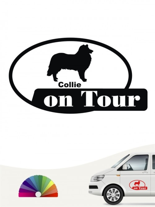 Collie on Tour Aufkleber anfalas.de