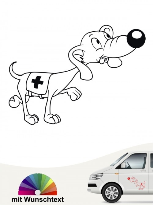Mantrailing Autoaufkleber Hund lustig anfalas.de