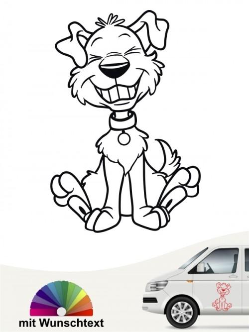 Lustiger Comic Hund Autosticker von anfalas.de