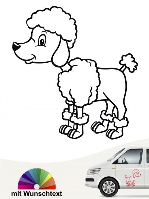 Comic Hund mit Wunschtext von anfalas.de