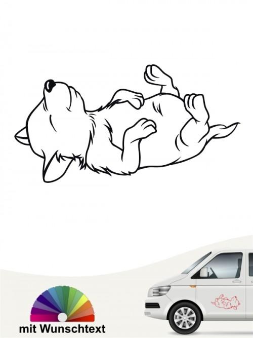Comic Hunde Autosthicker mit Wunschname von anfalas.de