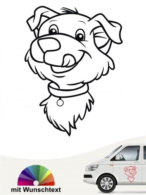Hundecomic Autosticker von anfalas.de