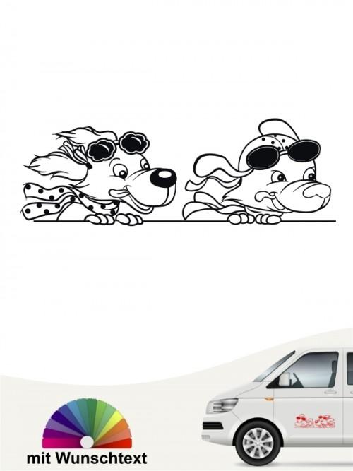 Comic Hunde Sticker mit Wunschtext von anfalas.de