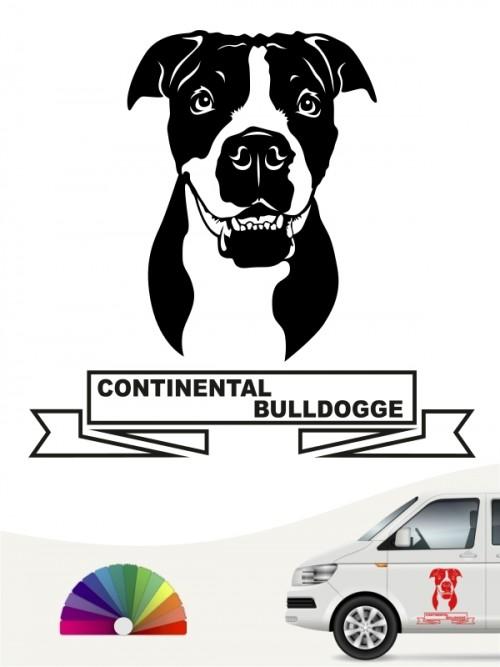 Hunde-Autoaufkleber Continental Bulldogge 15 von Anfalas.de