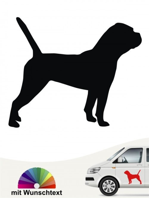 Continental Bulldogge mit Wunschtext  Sticker anfalas.de
