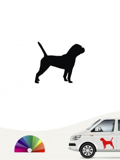 Hunde-Autoaufkleber Continental Bulldogge 1 Mini von Anfalas.de