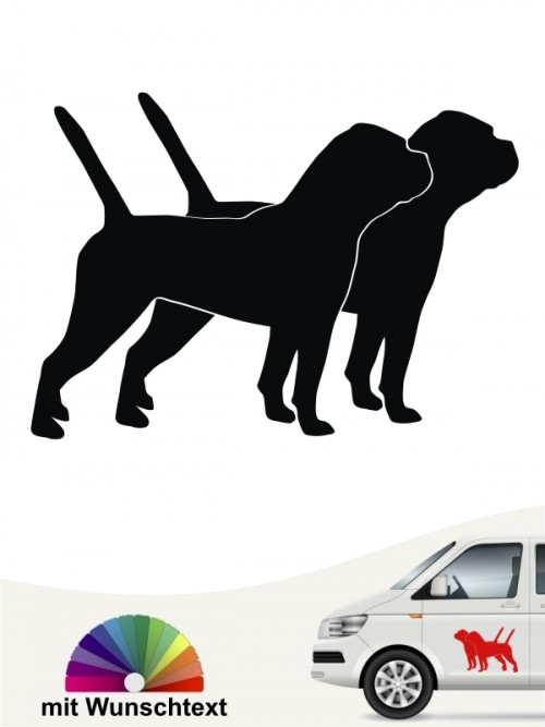 Doppelte Continental Bulldogge Silhouette mit Wunschtext anfalas.de