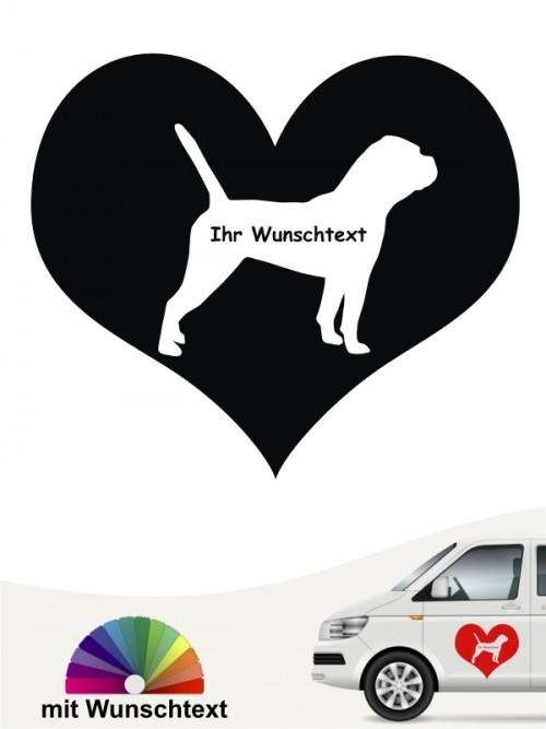 Continental Bulldogge Herzmotiv mit Wunschtext anfalas.de
