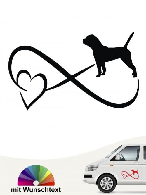 Continental Bulldogge  Autoaufkleber mit Wunschtext von anfalas.de