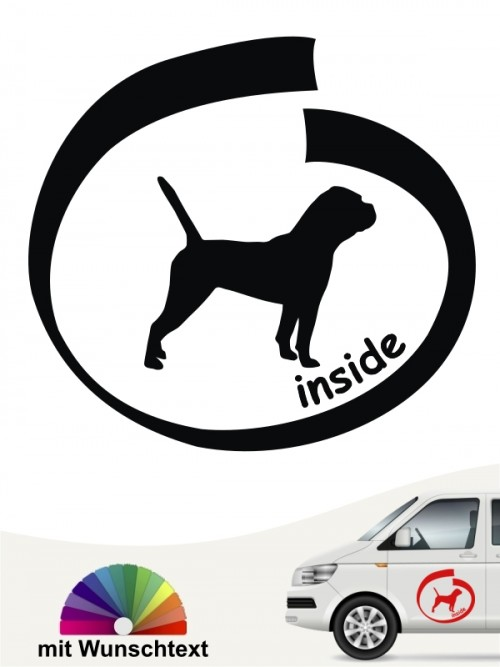 Inside Continental Bulldogge Autosticker mit Wunschname anfalas.de