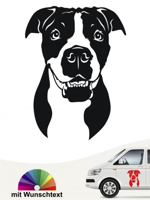 Continental Bulldogge Kopfmotiv mit Wunschtext von anfalas.de