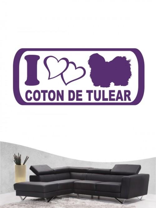 Coton de Tulear 6 Wandtattoo
