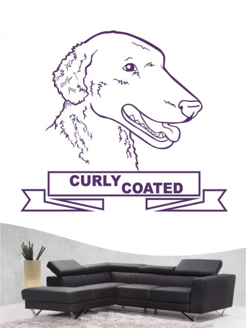 Hunde-Wandtattoo Curly Coated Retriever 16 von Anfalas.de