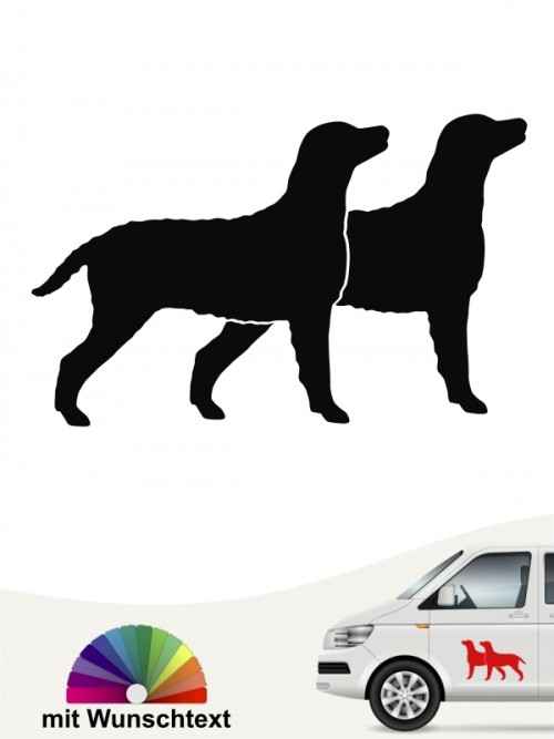 Curly Coated Retriever doppel Silhouette mit Text anfalas.de