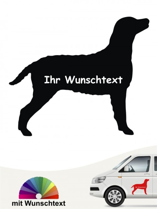 Curly Coated Retriever Silhouette mit Wunschname anfalas.de