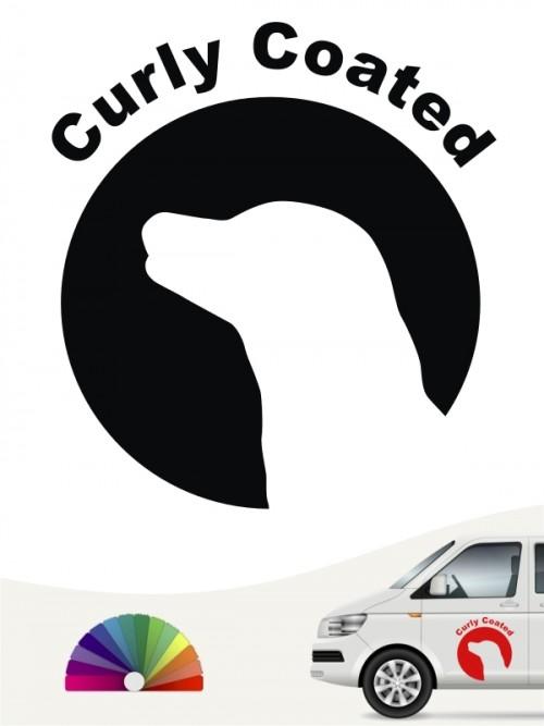Curly Coated Retriever Aufkleber von anfalas.de
