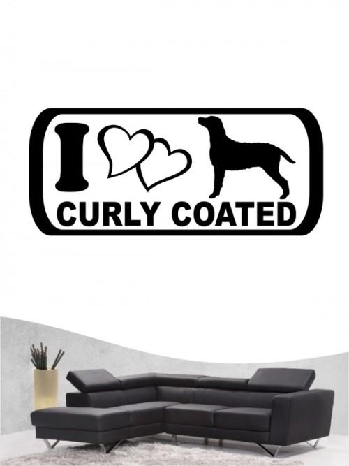 Curly Coated Retriever 6 Wandtattoo