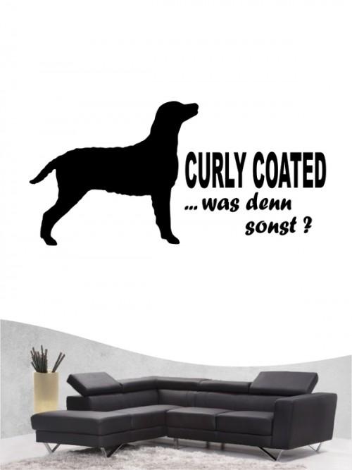 Curly Coated Retriever 7 Wandtattoo