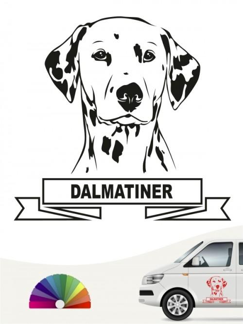 Hunde-Autoaufkleber Dalmatiner 15 von Anfalas.de