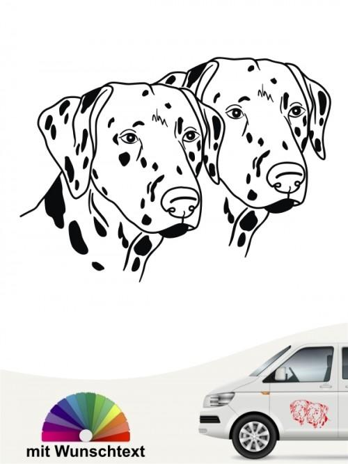 Doppelte Dalmatiner Köpfe Autoaufkleber anfalas.de