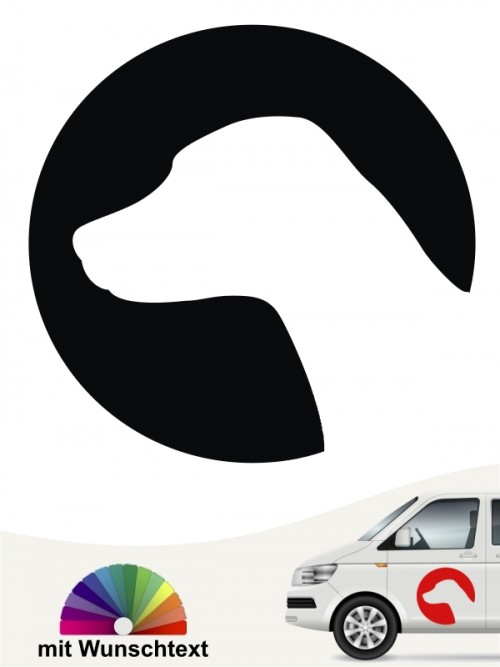 Dalmatiner Autoaufkleber mit Wunschtext anfalas.de