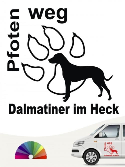 Dalmatiner im Heck Autoaufkleber anfalas.de