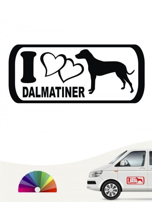 I Love Dalmatiner Heckscheibenaufkleber anfalas.de
