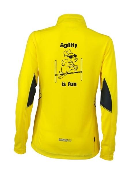 Damen Running Langarm Shirt mit Agility Motiv von anfalas.de
