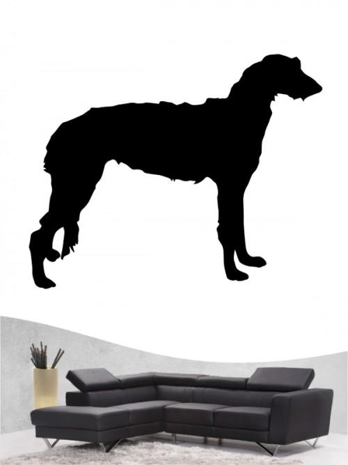 Deerhound 1 - Wandtattoo