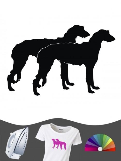 Deerhound 2 Bügelbild