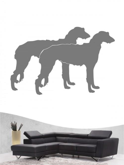 Deerhound 2 - Wandtattoo