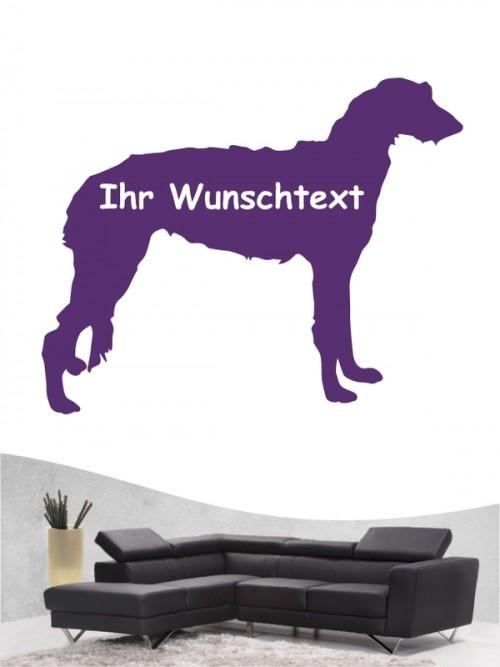 Deerhound 3 - Wandtattoo