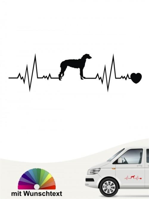 Deerhound Hundeaufkleber von anfalas.de