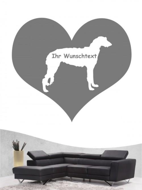 Deerhound 4 - Wandtattoo