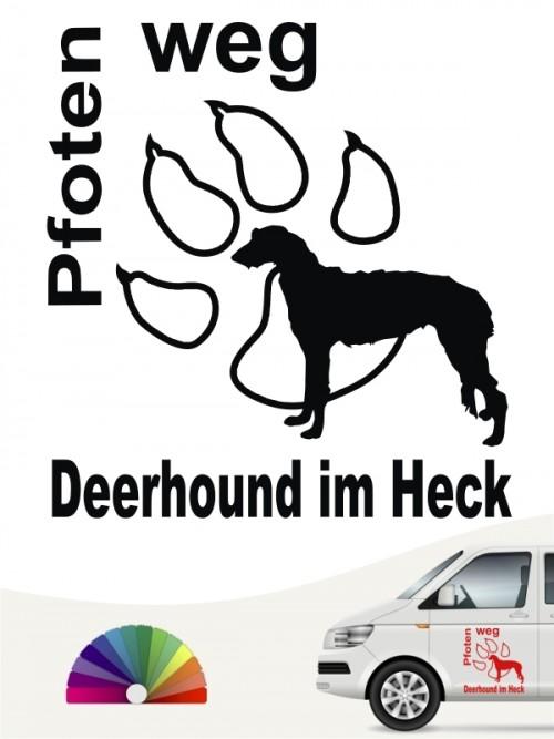 Pfoten weg Deerhound Autoaufkleber anfalas.de
