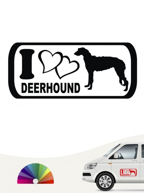 I Love Deerhound Autosticker anfalas.de