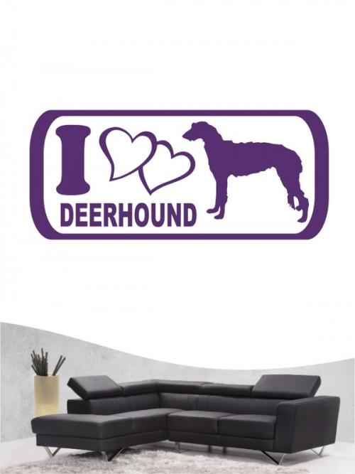 Deerhound 6 - Wandtattoo