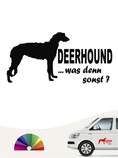 Deerhound was denn sonst Sticker anfalas.de