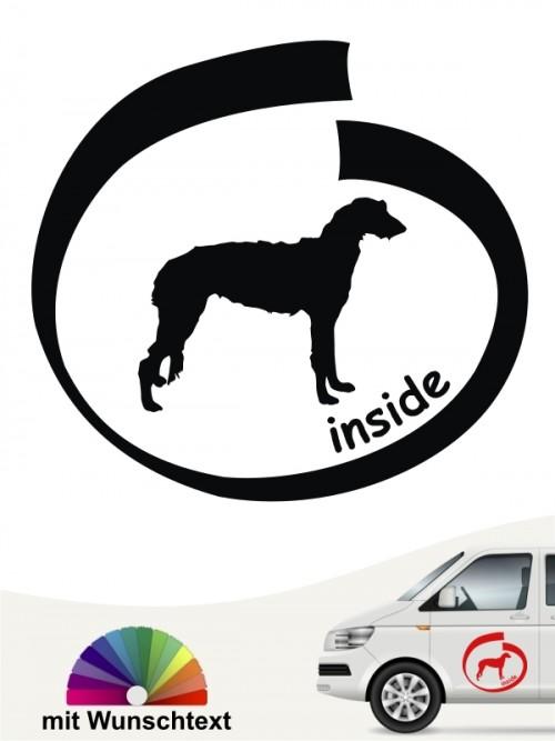 Deerhound inside Hundeaufkleber anfalas.de