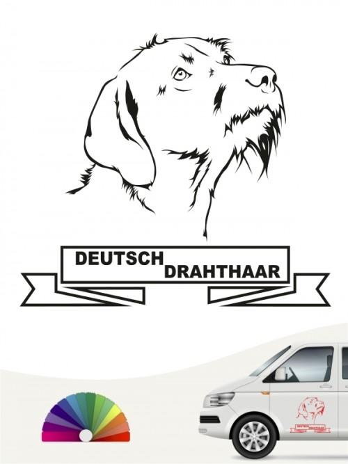 Hunde-Autoaufkleber Deutsch Drahthaar 15 von Anfalas.de