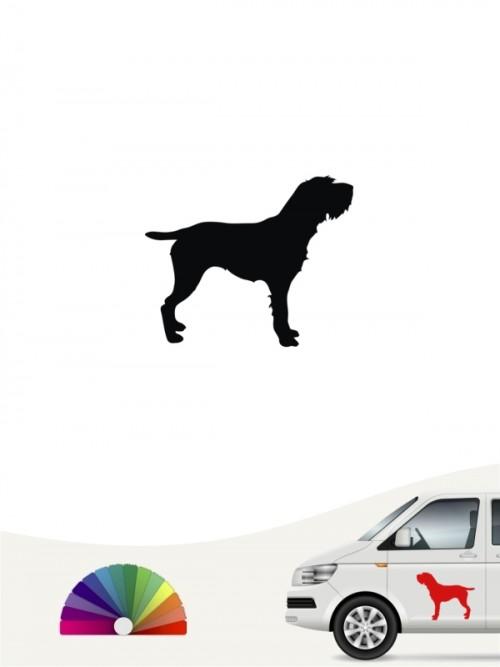 Hunde-Autoaufkleber Deutsch Drahthaar 1 Mini von Anfalas.de