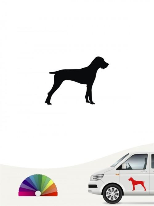 Hunde-Autoaufkleber Deutsch Drahthaar 1a Mini von Anfalas.de