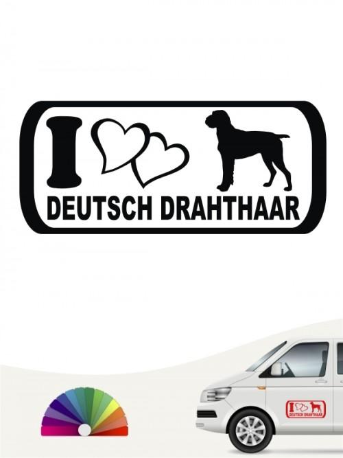 I Love Deutsch Drahthaar Hundeaufkleber anfalas.de